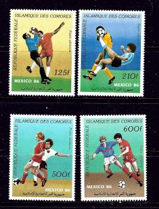 Comoro Is C163-66 MNH 1986 Soccer