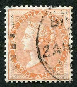 Zanzibar SGZ26 1865 India 2a Brown-orange with type TZ3 cancelation
