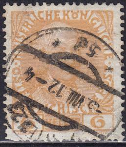 Austria 114a USED 1908 Leopold II 6H