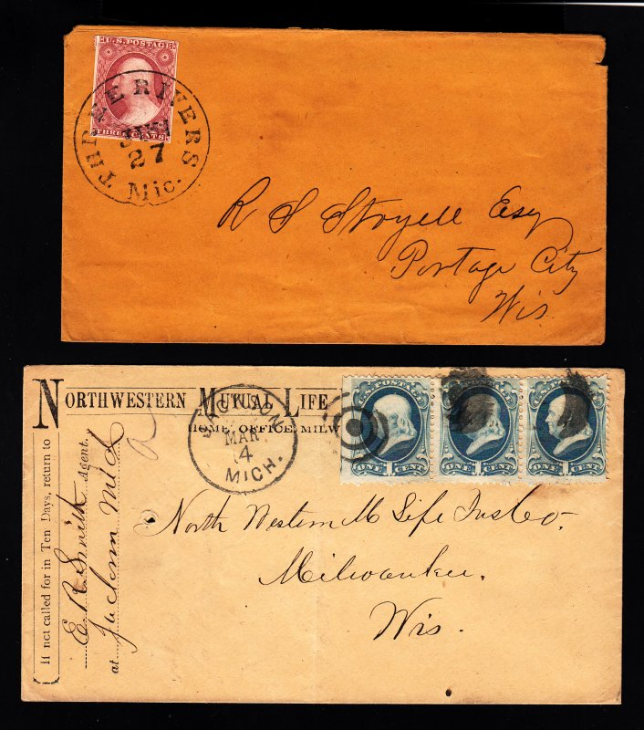 11A XF/S on Three Rivers MI cover w/XF Balloon Cancel w/bonus cover!