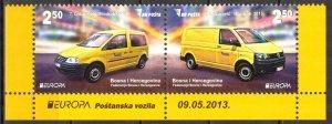 Bosnia 2013 Europa CEPT Postman Van Cars Pair MNH