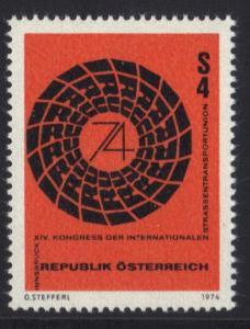 Austria  1974 MNH road haulage union complete