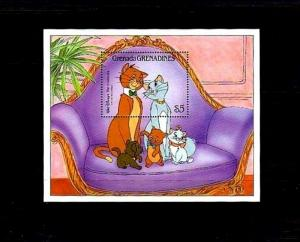 GRENADA GR - 1988 - DISNEY - ARISTOCATS - CATS - KITTENS - MINT MNH S/SHEET!