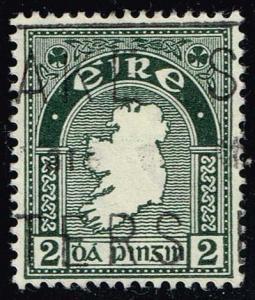 Ireland #109 Map of Ireland; Used (1.40)