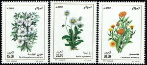 Algeria #1608-10  MNH - Flowers (2014)