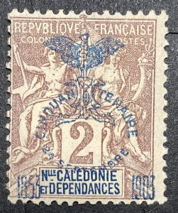 AlexStamps NEW CALEDONIA #67 FINE Mint