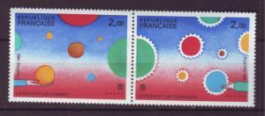 J20189 jlstamps 1982 france set pair mnh #1820a designs