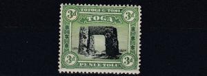 TONGA  1897  S G  44  3D  BLACK YELLOW GREEN    MH   LIGHTLY  TONED