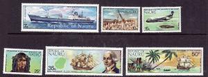 Nauru.-Sc#108-13-Unused NH set-Ships-Boats-1974-please note that #111 has a
