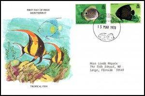 Montserrat 381-382 Fish Typed FDC