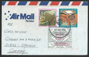 AUSTRALIA 1994 cover to Germany - nice franking - Sydney Pictorial pmk.....47135