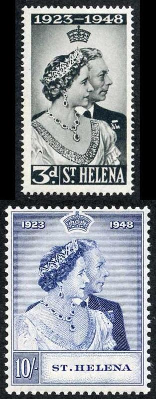 St Helena SG143/4 1948 Silver Wedding M/Mint