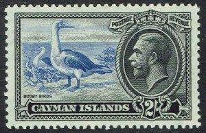 CAYMAN ISLANDS 1935 KGV BIRD 2/-
