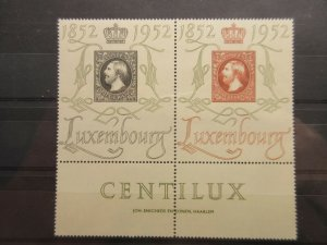 LUXEMBOURG  Scott  278-279  (pair with tab)  MINT NEVER HINGED  LotX  Cat $70