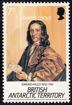 British Antarctic Territory # 129 mnh ~ 7p Edmond Halley,...