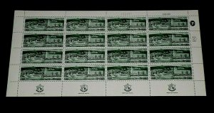 1969, ISRAEL #380,  PORT OF HAIFA ISSUE, 1.00, SHEET/ 16 , MNH, NICE! LQQK!