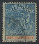 British South Africa Company / Rhodesia  SG 18 Used  see scans & details