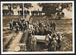 POLAND Sc#N46 Postcard 'Leader-meeting in field' canceled 1940 Krakau to Hamburg