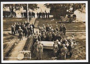 POLAND Sc#N46 RPPC 'German leader meeting' canceled 1940 Krakau to Hamburg