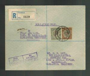1930 Tanga to Dar es Salaam Tanganyika KUT FFC First Flight Cover 50 FLown