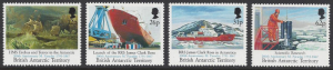 British Antarctic Territory #188-91 MNH set, research ships, issued 1991