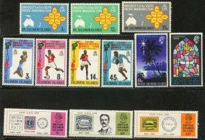 SOLOMON IS. Sc#195-197//248-249 1969-72 Eight Complete Sets OG Mint NH