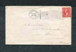 Postal History - Canton OH 1901 Black American Flag AMF-A14 Cancel Cover B0589