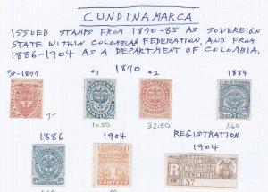 CUNDINAMARCA  (COLUMBIA) USED  SCV $75.05 STARTS @ 25% OF CAT VALUE