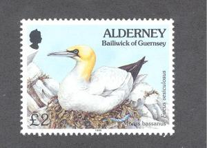Alderney 87, F-VF, MNH