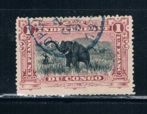 Belgian Congo  24a Used Elephants (B0078)