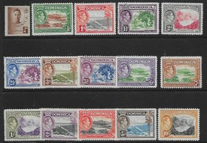 DOMINICA SG99/109a 1938-47 DEFINITIVE SET MTD MINT