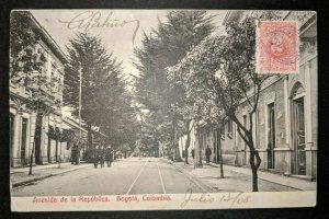 1908 Republic Avenue Bogota Columbia to France Real Picture Postcard Cover