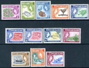 PITCAIRN ISLANDS-1957-63 Set to 2/6 Sg 18-28 LIGHTLY MOUNTED MINT V15120