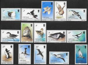 South Georgia 109-123 MNH - Birds