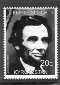 Kyrgyzstan 1999 ABRAHAM LINCOLN 1 value Perforated Mint (NH)