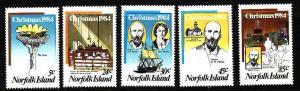 D3-Norfolk Is.-Scott#347-51-Unused NH set-Christmas-1984-