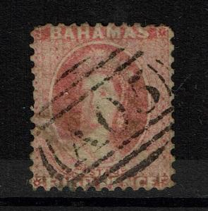 Bahamas SG# 10 - Used  - No Wmk / Perf 12 / Small Shallow Thin - Lot 090317