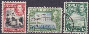 Bermuda #121, 121D, 122   F-VF Used CV $4.80 (Z2480)
