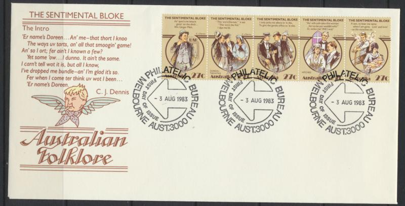 Australia SG 890a on First Day Cover - Folk Lore  Poems