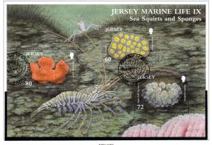 Jersey Sc 1504 2011 Sea Squirts Sponges stamp sheet used