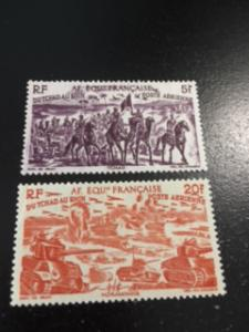 French Equatorial Africa sc C25,C28 MH