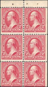 279Bj Mint,OG,VLH... Booklet Pane... SCV $500.00