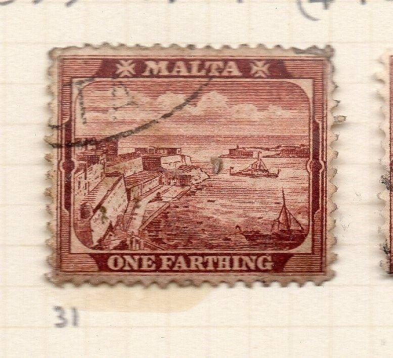 Malta 1889-1901 Early Issue Fine Used 1F. 259504