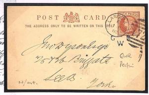 E148a 1882 GB Wales Denbigh Llangollen Stationery Railway {samwells-covers}
