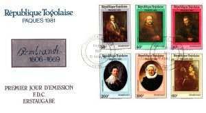 Togo, Worldwide First Day Cover