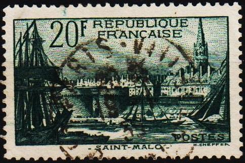 France. 1938 20f S.G.601 Fine Used