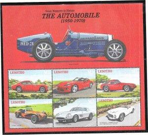 Lesotho #1250  3M  The Automobile sheet of 6 (MNH) CV $7.50