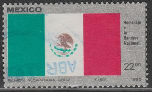 MEXICO 1376, National Flag USED. F-VF. (889)