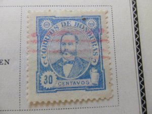 Honduras 1896 30c fine used stamp A11P11F25