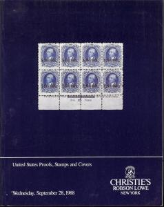 Christie's Robson Lowe:    United States Proofs, Stamps a...